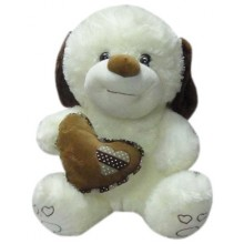 Stuff Toy Dog with Heart