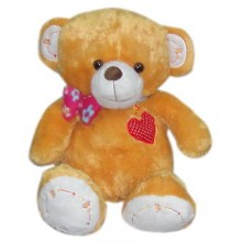 Brown Bear with Ribbon & Heart