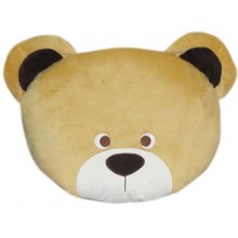 Dog Head Brown Fancy Pillow