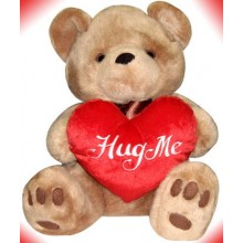 Brownie Bear w/ Hug Me Heart