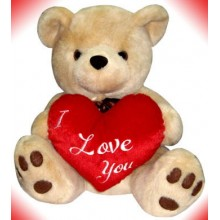 Brownie Bear w/ I love You Heart