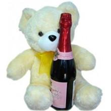 Bear w/ champagne