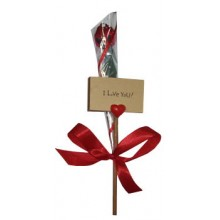 I Love You Placard plus Scented Artificial Rose