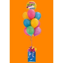 Colorful latex and mylar balloon