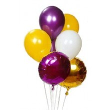 Mix of mylar and latex balloons
