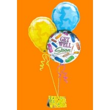 Balloons Available with diferrent message: Love you,Get well, Birthday etc
