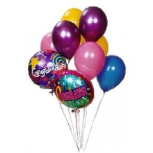 8pcs balloons with different messages