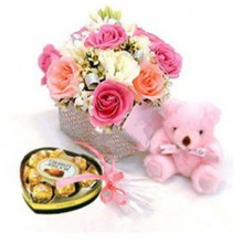 Rose bear and sweets