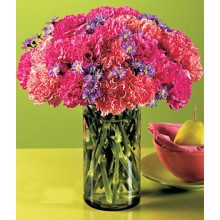 Bright carnations in a Bouquet