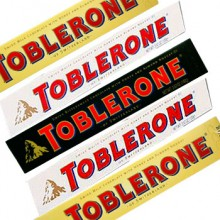 Toblerone one by one. 5 Varities