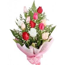 12 Mixed Roses