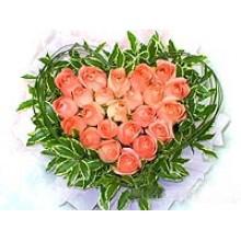 Beautiful Heart Shaped Roses