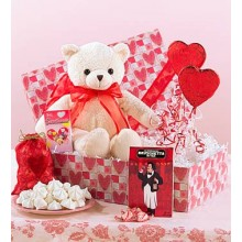 Bear With Heart Shaped Sweets