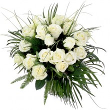 2 Dozen White Rose Bouquet