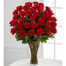 The Long Stem Red Rose - 36 Stems