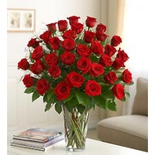 Three Dozen Premium Red Roses in Vase