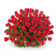 Red Roses Round Arrangement