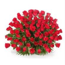 Red Roses Round Arrangement