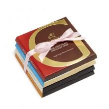 ARTISAN CHOCOLATE BARPINK RIBBON, 4PCS