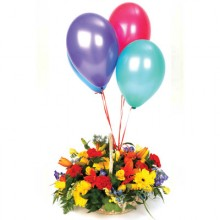 Celebration Flower and Five Balloons