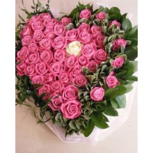 Roses in a floral heart