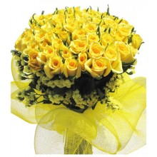 Bunch of 100 Yellow Roses