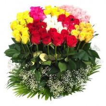 100 Assorted Roses Arrangement