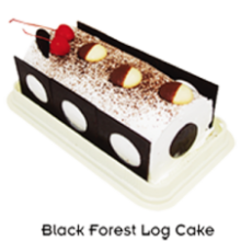 Black Forest Premium Log by Bake & Churn