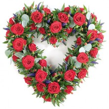 36 Roses Heart Shaped Arrangement