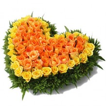60  Yellow and Orange Roses