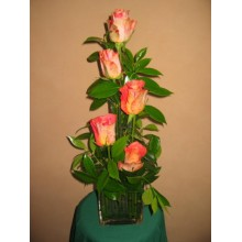 Five Orange roses flower arrangement