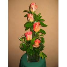 Five Orange roses flower arrangement
