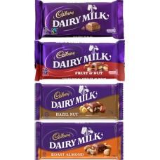 Cadbury Dairy Milk 4 Assorted Bars